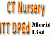 up ct nursery ntt dped merit list