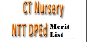 up ct nursery ntt dped merit list