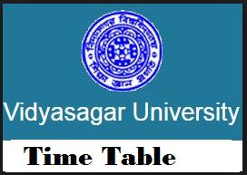 vidyasagar university exam routine