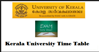 Kerala University Time Table