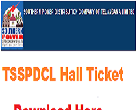 TSSPDCL Hall Ticket