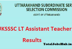 UKSSSC LT Assistant Teacher Result