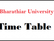 bharathiar university time table