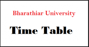 bharathiar university time table