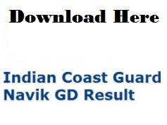 indian coast guard gd result