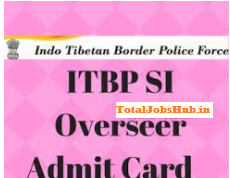 itbp si overseer admit card