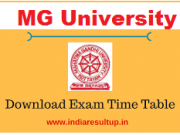 mg university time table