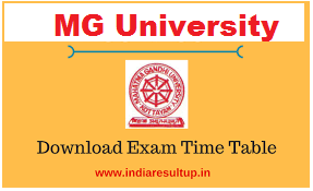 mg university time table