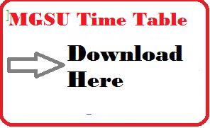mgsu bikaner time table