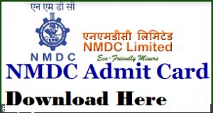 nmdc admit card