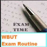 wbut exam routine