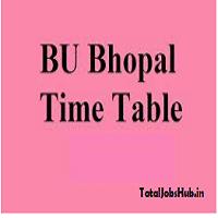 Barkatullah University Time Table