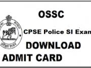 OSSC Sub Inspector Admit Card