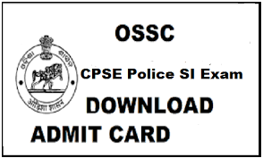 OSSC Sub Inspector Admit Card