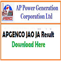 apgenco jao result