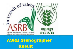 asrb stenographer result 2018