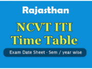 rajasthan iti time table