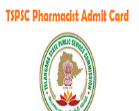 tspsc pharmacist hall ticket
