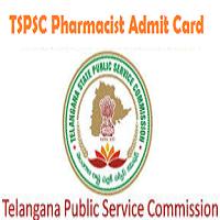 tspsc pharmacist hall ticket