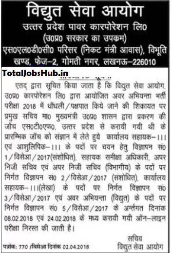 UPPCL Office Assistant Result 2018 Stenographer Grade 3 Cut off Marks