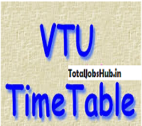 vtu time table pdf