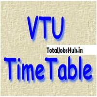 vtu time table pdf