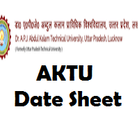 AKTU Time Table 2018 pdf UPTU 1st, 3rd, 5th, 7th Odd Sem Date sheet