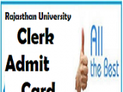 Rajasthan University Clerk Admit Card