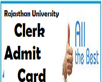 Rajasthan University Clerk Admit Card