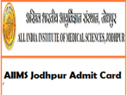 aiims jodhpur admit card