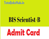 bis scientist b admit card