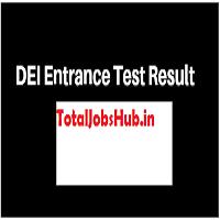 DEI Entrance Exam Result 2018 UG PG Btech Exam Merit List pdf