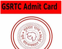 gsrtc conductor admit card