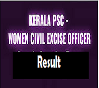 kerala women civil excise officer results
