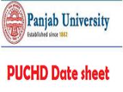 puchd date sheet