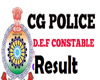CG Police DEF Result