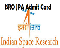 isro jpa admit card