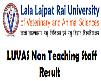 luvas non teaching staff result