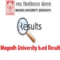 magadh university b.ed entrance Exam result