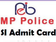 mp police si admit card