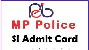 mp police si admit card
