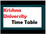 Krishna Universiy Time Table