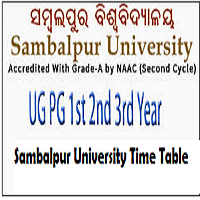Sambalpur University Time Table