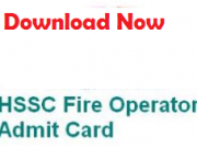 hssc fire operator admit card