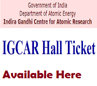 igcar admit card