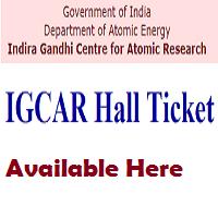 igcar admit card