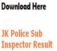 jk police si result