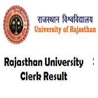 rajasthan university clerk result