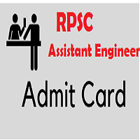RPSC Assistant Engineer Admit Card 2018 Raj AEN Exam Date