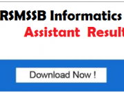 rsmssb information assistant result